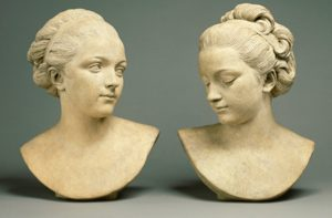 Ideal Female Heads; Augustin Pajou (French, 1730 - 1809); n.d.; Terracotta; 87.SC.114